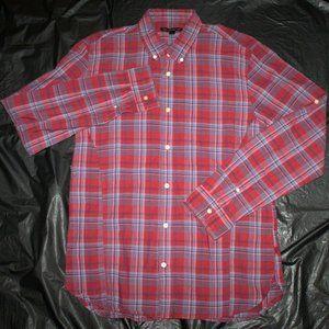 John Varvatos Mens Long Sleeve Button Down Shirt S